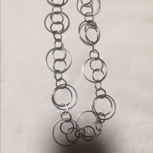Jewelry - Silver colored necklace with circle design